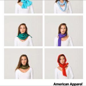 American Apparel Accessories - American Apparel unisex sheer jersey scarf